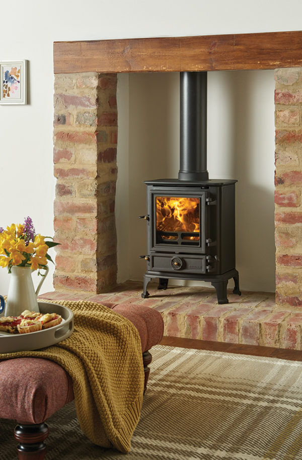 Stovax & Gazco Brunel 1A Wood Burning Stoves & Multi-fuel Stove