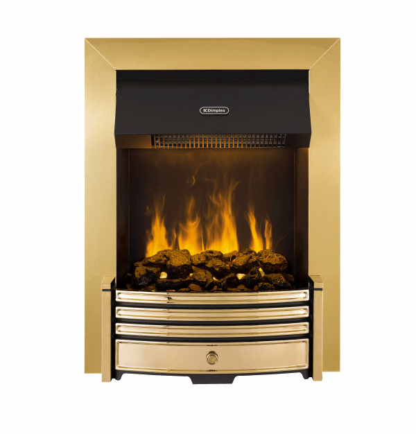 Dimplex Crestmore Traditional Brass Effect Opti-myst