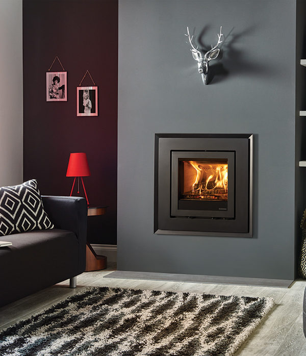Stovax & Gazco Elise Evoke Steel Wood Burning & Multi-fuel Inset Fire