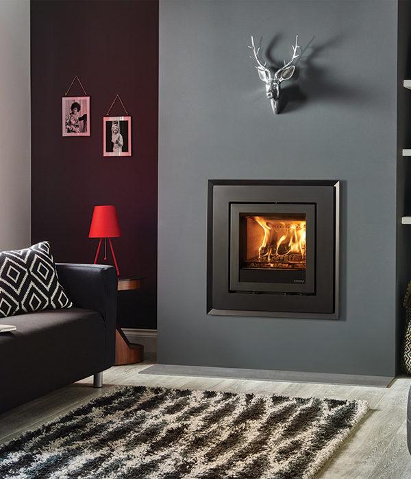 Stovax & Gazco Elise Evoke Steel Wood Burning & Multi-fuel Inset Fire