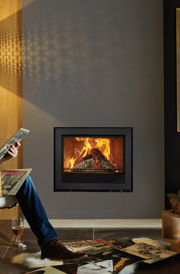Stovax & Gazco Elise Edge Wood Burning & Multi-fuel Inset Fire