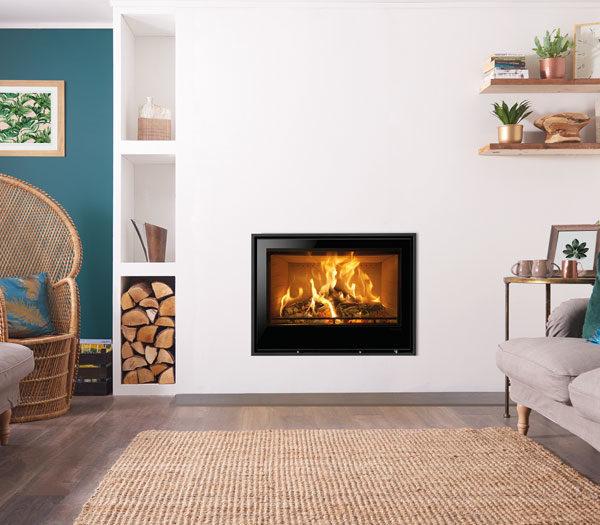 Stovax & Gazco Elise Edge+ Wood Burning & Multi-fuel Inset Fire