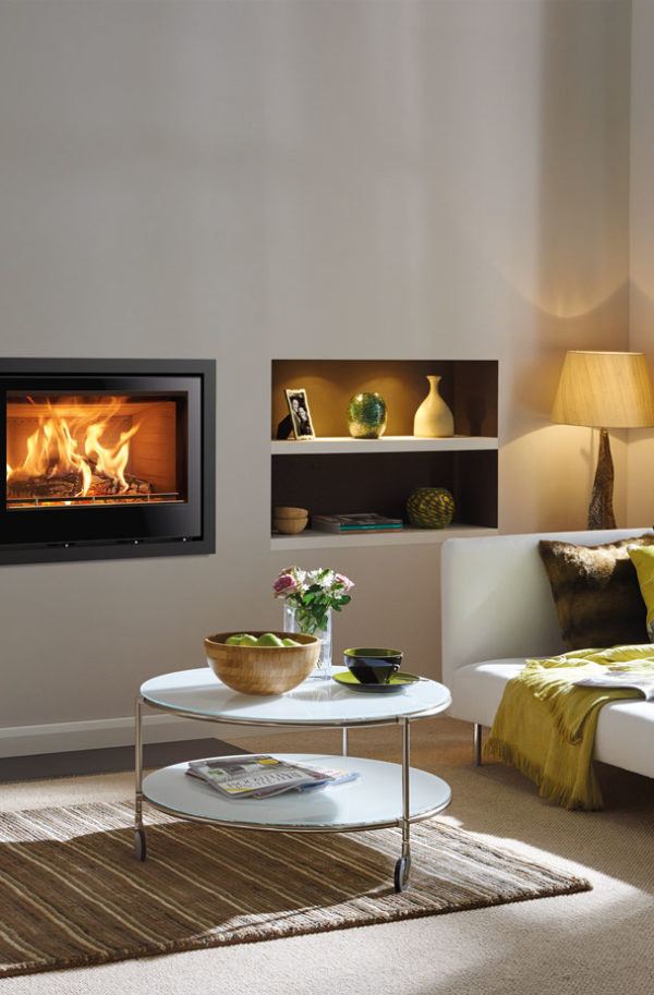 Stovax & Gazco Elise Glass Wood Burning & Multi-fuel Inset Fire