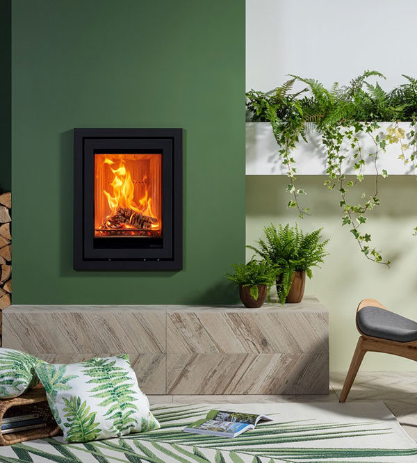 Stovax & Gazco Elise Profil Wood Burning & Multi-fuel Inset Fire