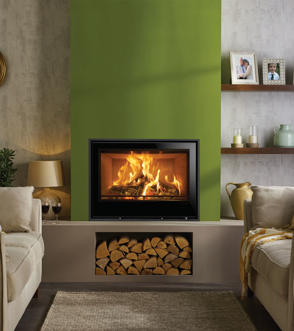 Stovax & Gazco Elise Edge+ Wood Burning & Multi-fuel Inset Fire