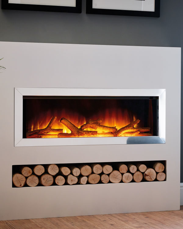 Flamerite Fires Gotham 900 Free Standing Electric Suite