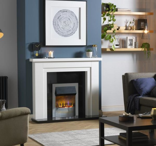 Dimplex Portree Chrome Optiflame 3D Electric Inset Fire