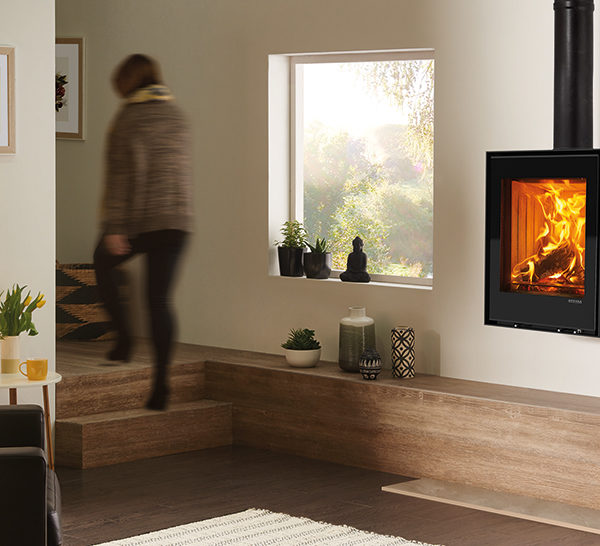 Stovax & Gazco Elise 540T Wall Mounted Wood Burning & Multi Fuel Stove
