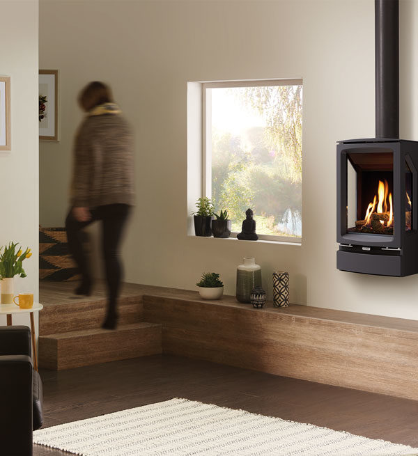 Stovax & Gazco Vogue MidiT Wall Mounted Gas Stove