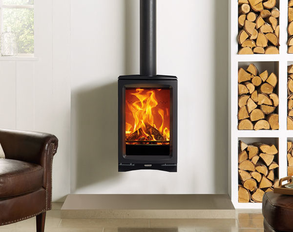 Stovax & Gazco Vogue MidiT Wall Mounted Wood Burning & Multi-fuel Stove