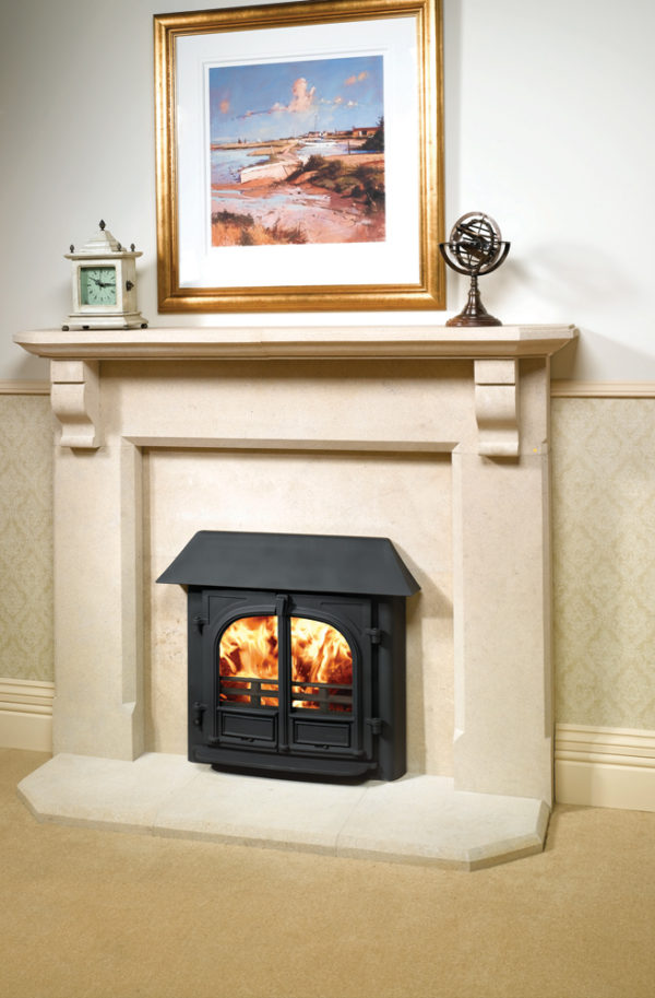 Stovax & Gazco Stockton 8 Wood Burning & Multi-fuel Inset Convector Stove
