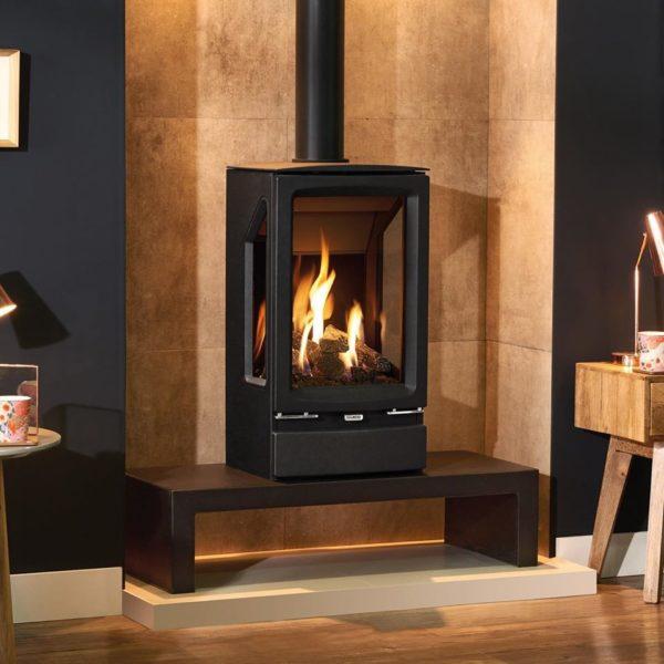 The versatile Gazco Vogue Midi T gas stove range