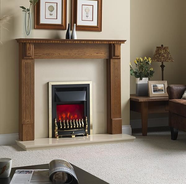 Valor Blenheim Dimension Brass/Chrome Inset Electric Fire