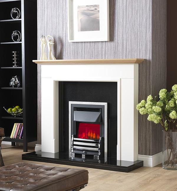 Valor Downton Dimension Brass/Chrome Inset Electric Fire
