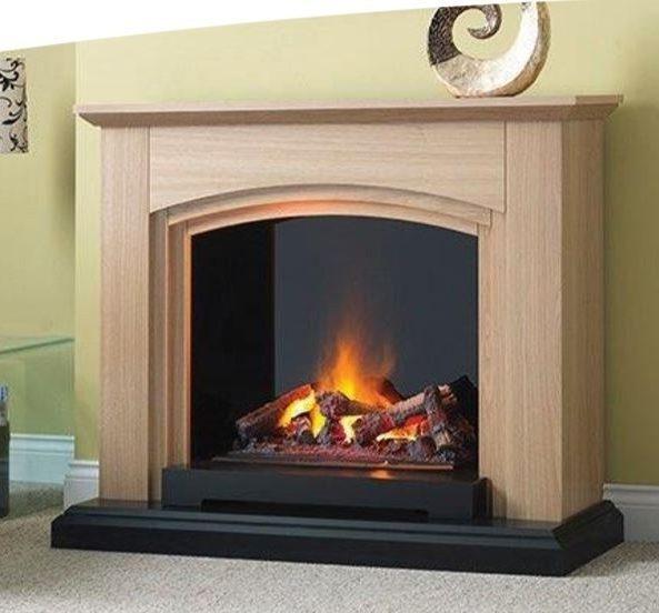 Katell Italia Optimyst 39″ Siena Electric Fire – Natural Oak