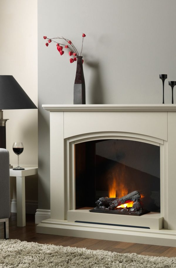Katell Italia Optimyst 39″ Siena Electric Fire – Sandstone
