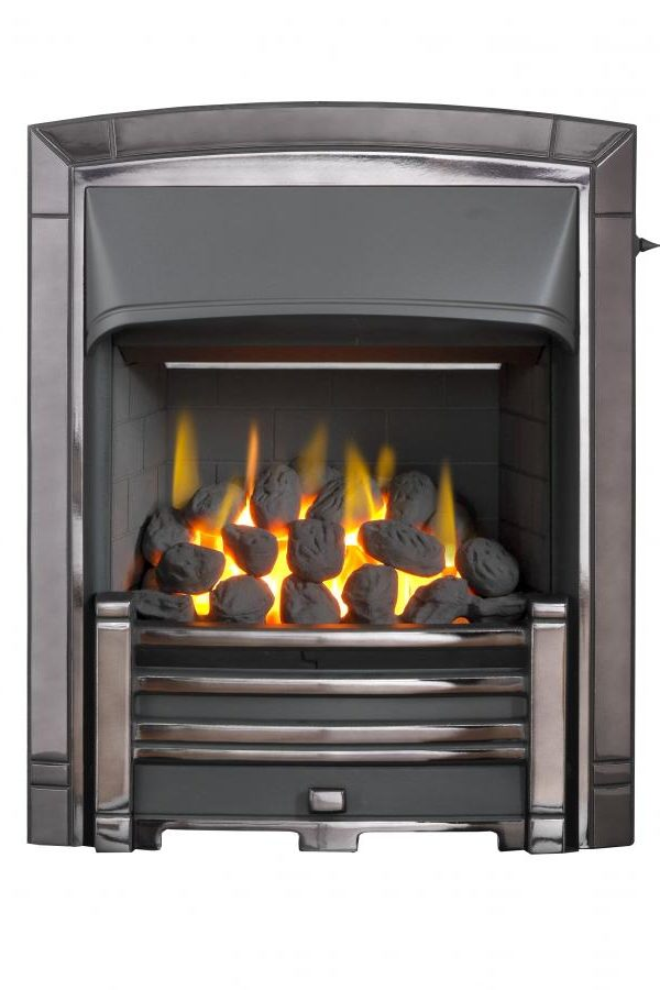 Valor Masquerade Black Nickel/Pale Gold Inset Electric Fire