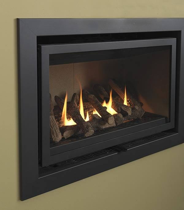 Valor Modenza Black/Brushed Chrome/Chrome Gas Fire