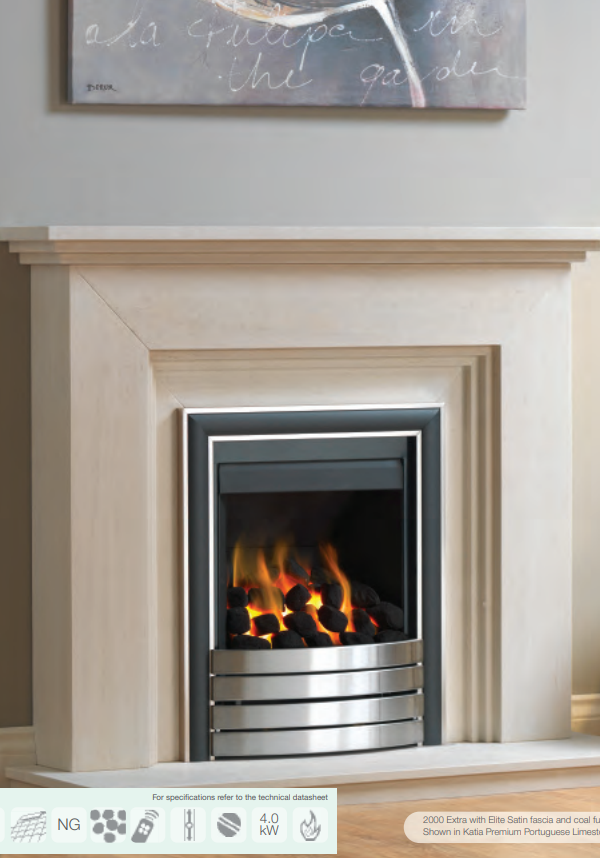 Paragon 2000 Extra Gas Fire
