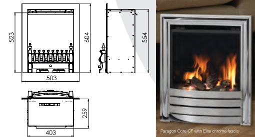 Paragon Core CF Gas Fire