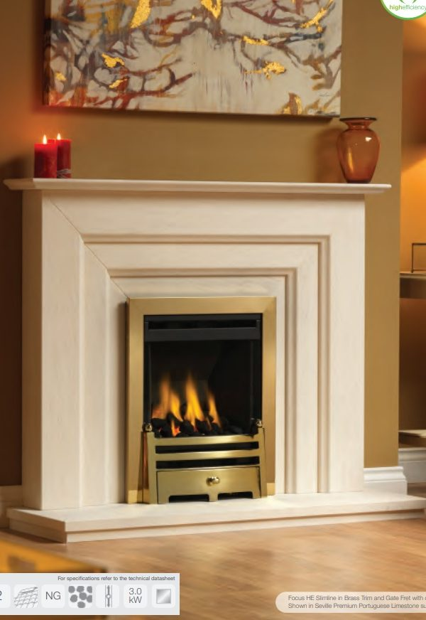 Paragon Focus HE Slimline Gas Fire