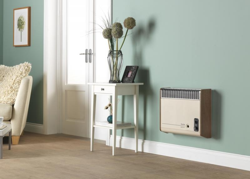 Valor Brazilia Beige & Oak Wall Heater