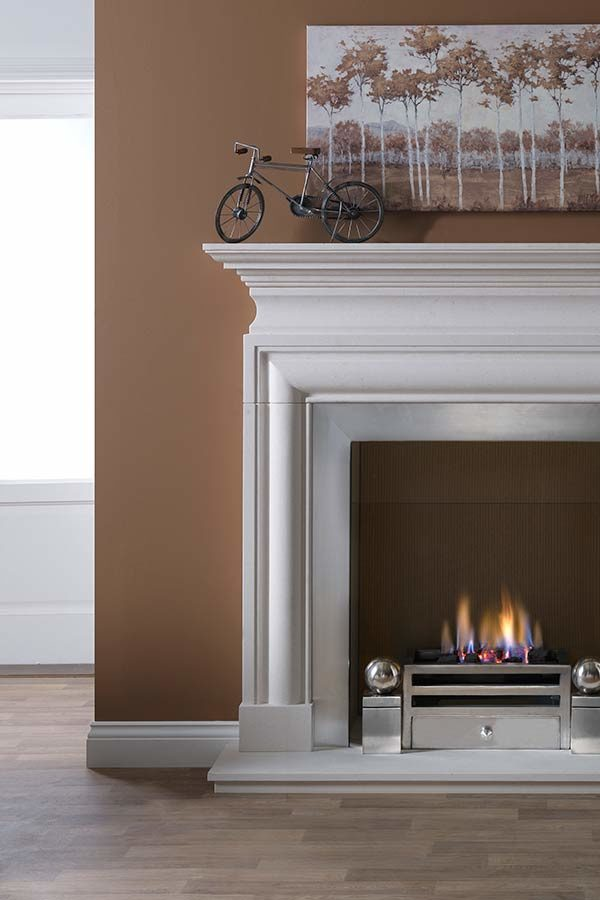 The Penman Collection Agean Limestone Avellino Mantel