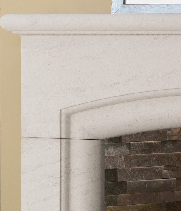 The Penman Collection Portuguese Limestone New Haven Mantel