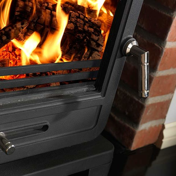 The Penman Collection Vega Edge 200SL Clean Wood Buning Smokeless Fuel Stove