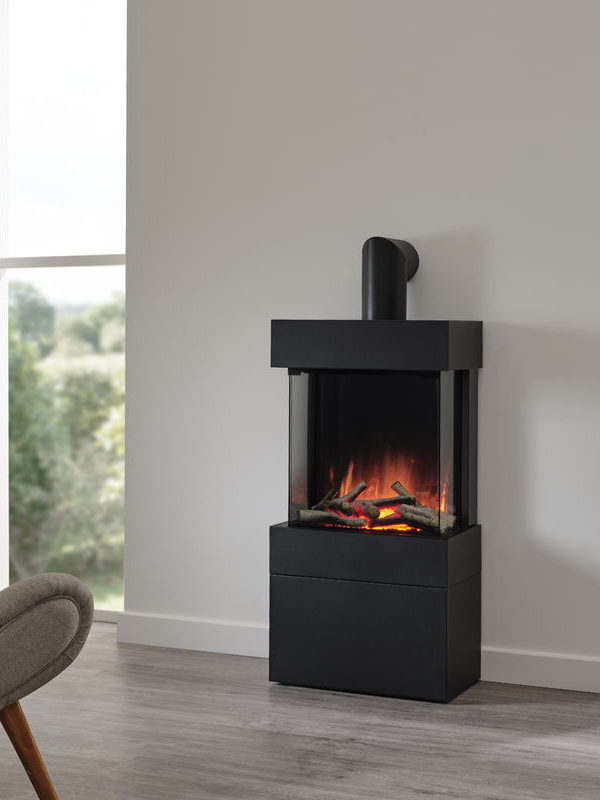 Flamerite Fires Luca 450 Freestanding Electric Fire with Log Box